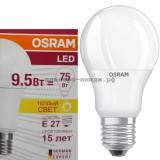 Лампа светодиодная LED-A60 CLA40 9.5W E27 2700K 806Lm Osram