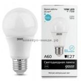 Лампа светодиодная LED-A60 10W 4100K E27 920Lm Gauss elementary