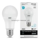 Лампа светодиодная LED-A60 20W 6400K E27 Gauss elementary