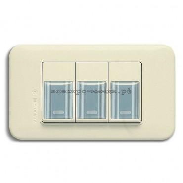 WSN 0123 Выключатель 3-кл. (резин. накладка)
