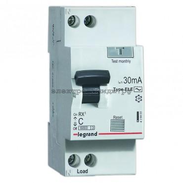 Дифференциальный автоматический выключатель 419401 Legrand RX3 1P+N 25A (C) 30mA