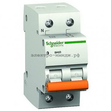 Автоматический выключатель 11211 ВА63 C6 1P+N 6A Домовой SE