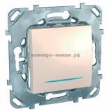Выключатель MGU5.201.25NZD 1-кл c подсветкой