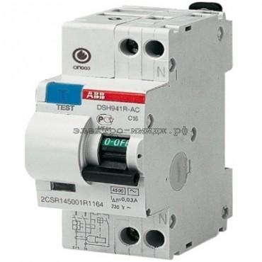 Дифференциальный автоматический выключатель DSH941R 1P+N 25A 30mA ABB