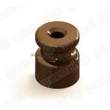 Изолятор керамический  GE70021-04 для наружного монтажа коричневый