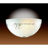 Светильник 004 хром/белый/декор прозрачн E27 100W TRAUBE