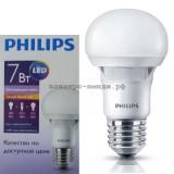 Лампа светодиодная LED-A60-essential 7W E27 3000K 480Lm Philips