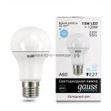 Лампа светодиодная LED-A60 15W 6500K E27 220V Gauss elementary