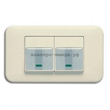 WSN 0225 Переключатель 2-кл. с инд (резин. накладка)