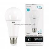 Лампа светодиодная LED-A60 30W 4100K E27 220V Gauss elementary