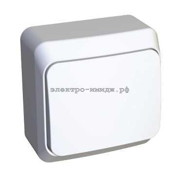 Выключатель ВА10-001B 1-кл ОП Этюд белый