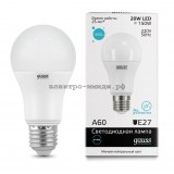 Лампа светодиодная LED-A60 20W 4100K E27 220V Gauss elementary