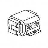 Вставка 1-ой аудиорозетки (1 модуль) ASJ 1002