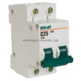 Автоматический выключатель ВА-101 06A 2P C 4,5кА DEKraft