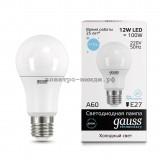 Лампа светодиодная LED-A60 12W 6500K E27 220V Gauss elementary