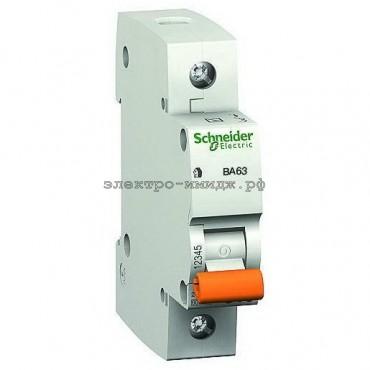 Автоматический выключатель 11209 ВА63 C63 1P 63A Домовой SE