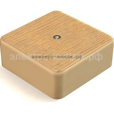Коробка распределительная ОУ GE41215-12 IP40 (75*75*28) цвет дуб