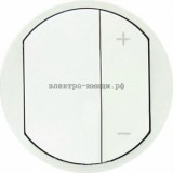 Лицевая панель светорегулятора кнопочного 068031 Legrand Celiane белый