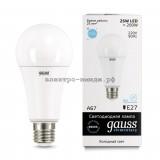 Лампа светодиодная LED-A60 25W 6500K E27 220V Gauss elementary