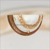 Светильник 017 орех/золото E27 100W FILO