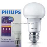 Лампа светодиодная LED-A60-essential 9W E27 3000K 650Lm Philips