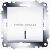 Выключатель 1-кл с подсветкой ABB Cosmo белый 619-010200-201