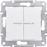 Выключатель SDN0300121 2-кл SE Sedna белый
