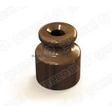 Изолятор керамический  GE70020-04 для наружного монтажа коричневый