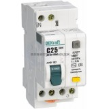 Дифференциальный автоматический выключатель ДИФ-102 1P+N 25А/30мА (хар. C) 4,5кА DEKraft