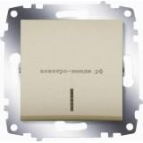 Выключатель 1-кл с подсветкой ABB Cosmo титаниум 619-011400-201