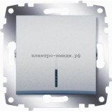 Выключатель 1-кл с подсветкой ABB Cosmo алюминий 619-011000-201