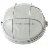 Светильник НПБ 1102 100Вт. белый круг/реш. IP54
