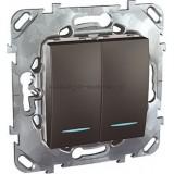 Выключатель MGU5.0101.12NZD 2-кл c подсветкой