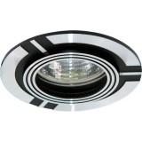Светильник DL238 MR16 G5.3 круг черный/алюминий