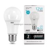 Лампа светодиодная LED-A60 12W 4100K E27 220V Gauss elementary