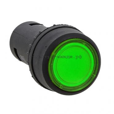 Кнопка SW2C-10D с подсветкой зеленая  EKF