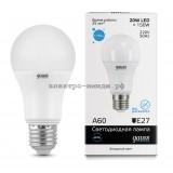 Лампа светодиодная LED-A60 20W 6500K E27 220V Gauss elementary