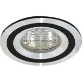 Светильник DL237 MR16 G5.3 круг черный/алюминий