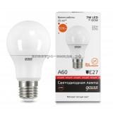 Лампа светодиодная LED-A60 7W 3000K E27 220V Gauss elementary