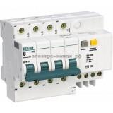 Дифференциальный автоматический выключатель 3P+N 10А/30мА (хар. C) 4,5кА DEKraft