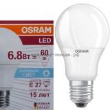 Лампа светодиодная LED-A60 CLA40 6.8W E27 6500K 600Lm Osram
