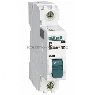 Автоматический выключатель ВА-101 25A 1P C 4,5кА DEKraft