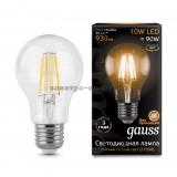 Лампа светодиодная LED-A60 10W 2700K E27 220V Filament Gauss