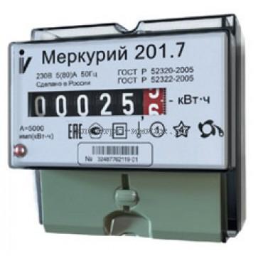 Счетчик Меркурий 201.7 1ф 5-60А