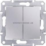 Выключатель SDN0300160 2-кл SE Sedna алюминий