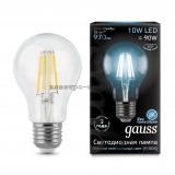 Лампа светодиодная LED-A60 10W 4100K E27 220V Filament Gauss